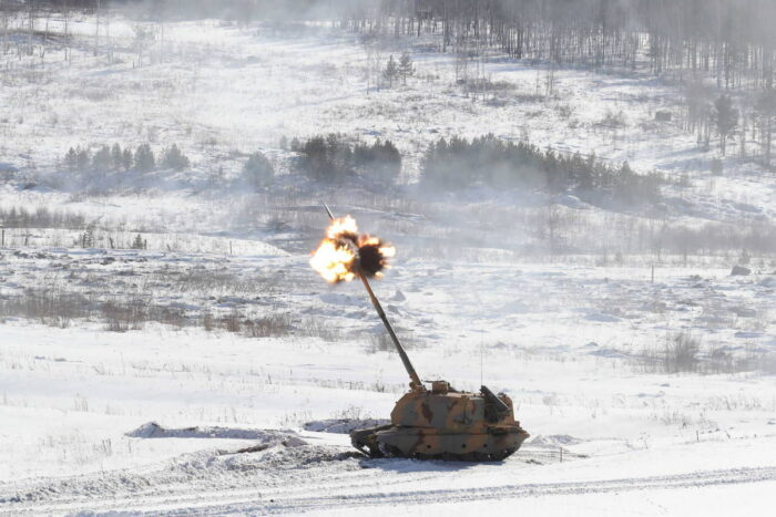 """155мм САУ """"Мста-С"""" на уральском полигоне"""