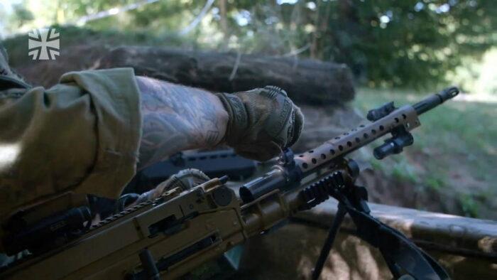 Замена ствола у пулемета MG5