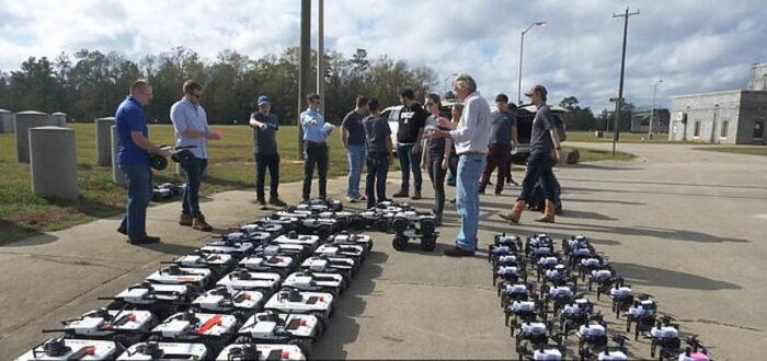 Рой беспилотников до 250 автономных систем