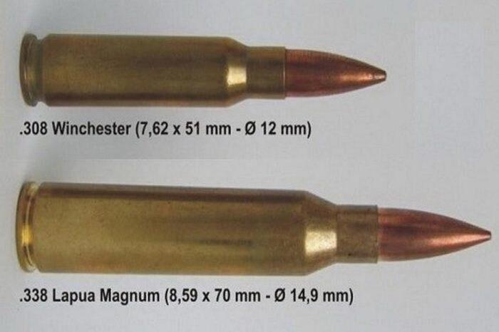 Сравнение калибров 7,62 и 8,6 мм