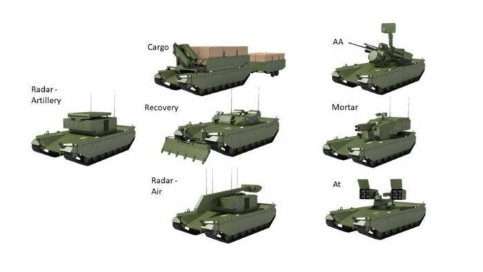 Варианты модулей миссий для платформы Type-X
