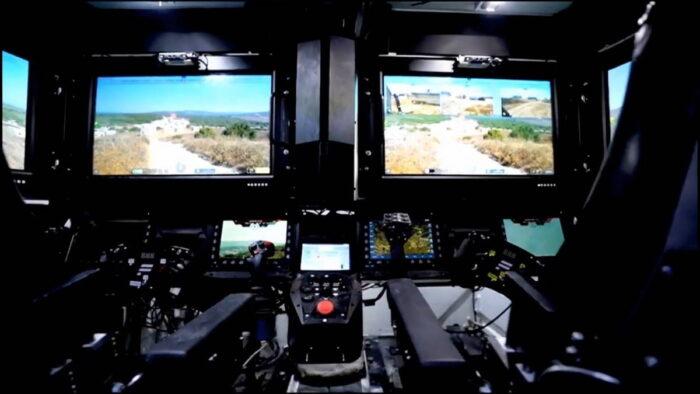 Интерфейс экипажа из плоских мониторов