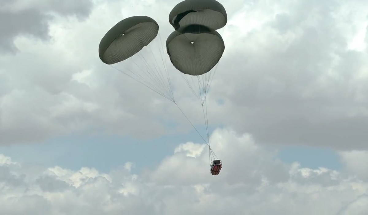 Грузовая парашютная система для десантирования беспилотной техники