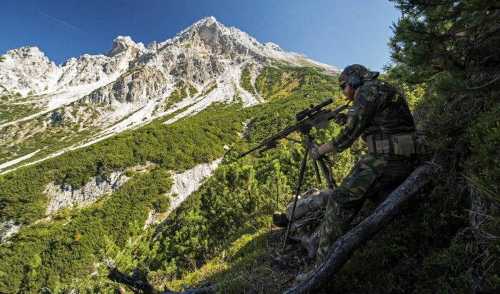 Огневая подготовка снайпера в горах