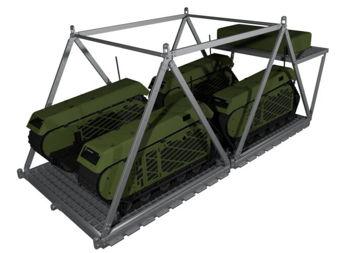 Легкая грузовая платформа для десантирования двух THeMIS