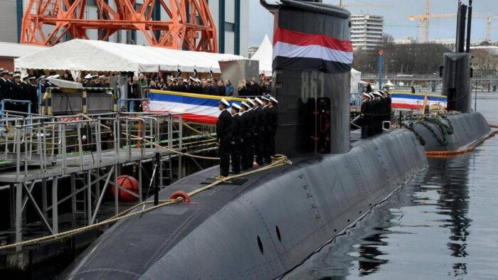 Передача ВМС Египта ПЛ типа 209/1400mod у пирса в Киле