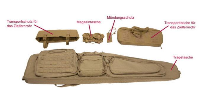 Набор чехлов для переноски элементов системы оружия