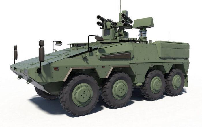 Оружейная станция с ЗУР RBS 70NG и РЛС Giraffe 1X