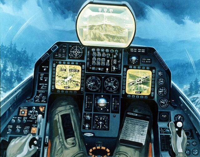 Отображение обстановки в кабине самолета