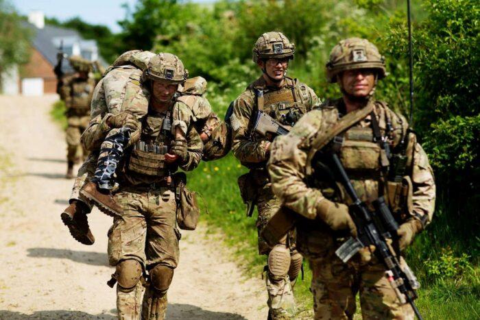 Тренировка личного состава 13 легкого пехотного батальона