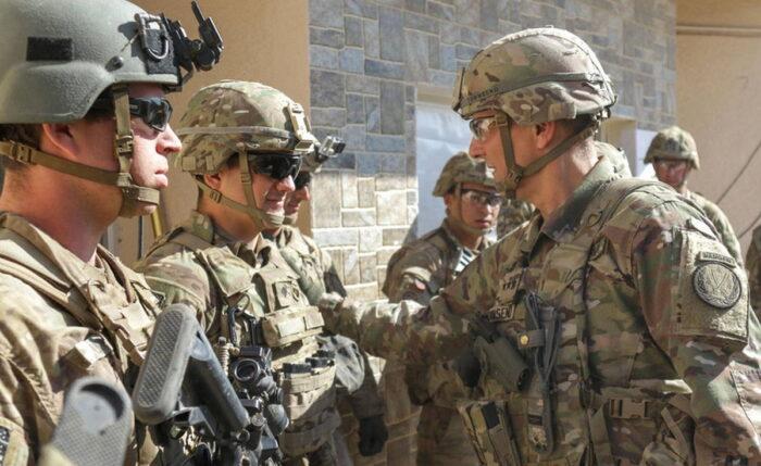 Военнослужащие CJTF в Мосуле. Февраль 2017 г.