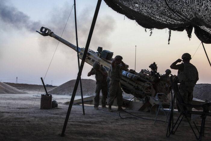 Артиллерийская поддержка в битве за Мосул