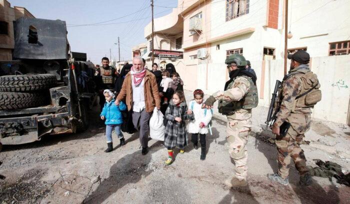 Эвакуация гражданских жителей из района боевых действий