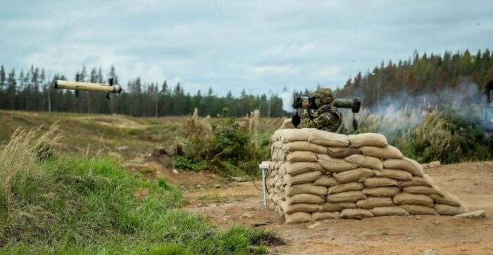 Показательная стрельба УР Spike SR на полигоне в Эстонии