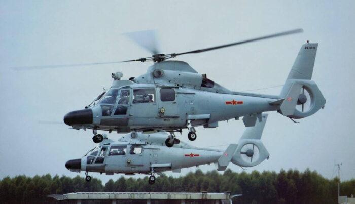 Противолодочные вертолет «Чжи-9» ВМС НОАК