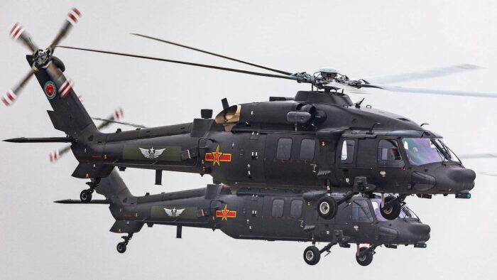 Новый китайский вертолет «Чжи-20F» (Z-20F)