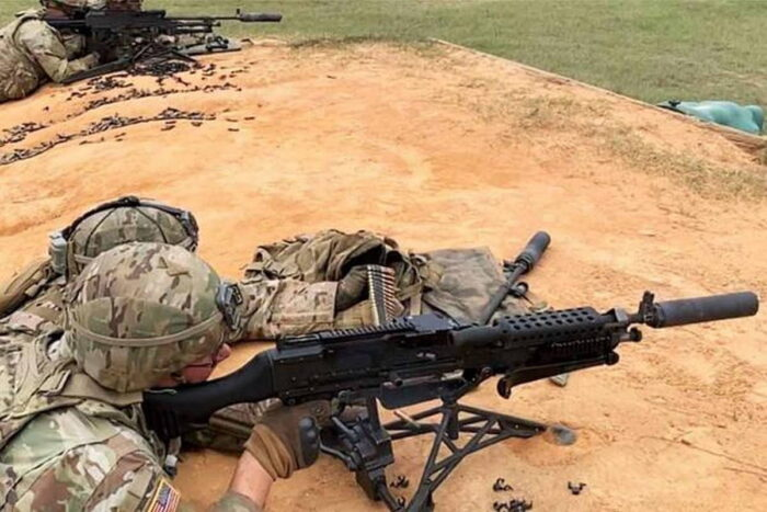 Тестирование глушителя для пулемета М240