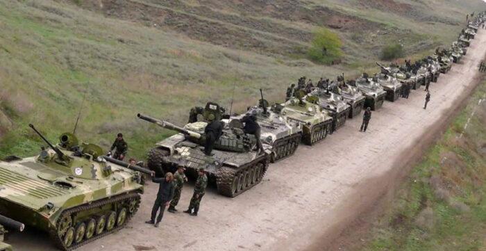 Сосредоточение бронетехники ВС Армении