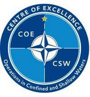 Центра передового опыта НАТО по операциям в замкнутых и мелководных водах. Эмблема