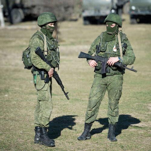 «Зеленые человечки» в Крыму. 2014 год