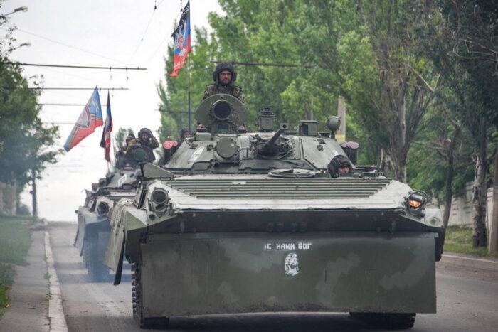 БМП пророссийских народных формирований под Донецком. Май 2015 года