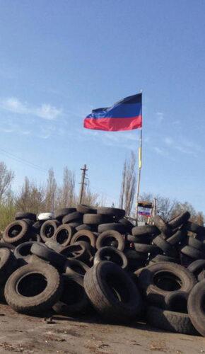 Баррикада проросскийских сил в Славянске