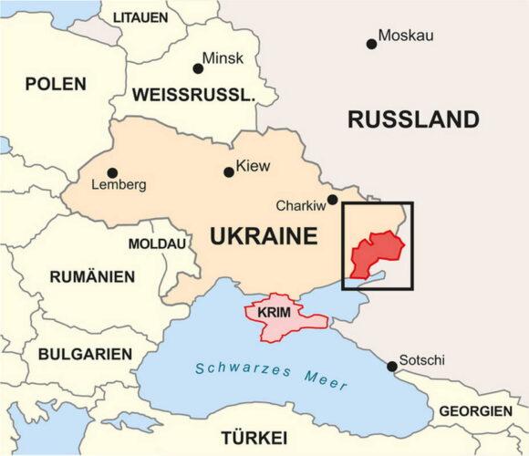 Обзорная карта конфликта на востоке Украины
