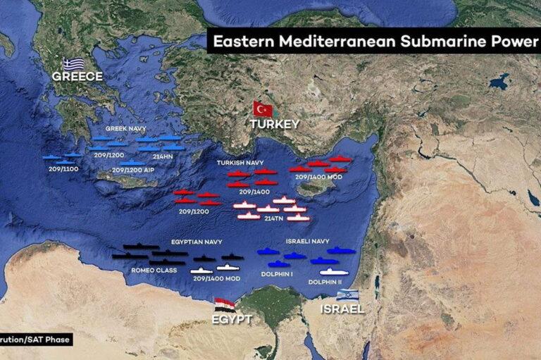 Подводные силы стран Восточного Средиземноморья: турецкая оценка