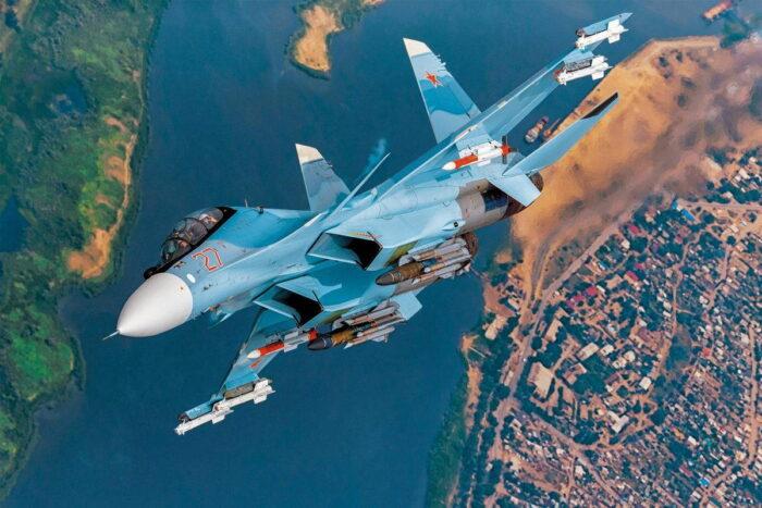 Российский многоцелевой истребитель Су-30СМ
