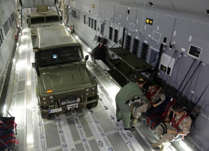 В грузовом отсеке тренажера самолета А-400М ВС Германии