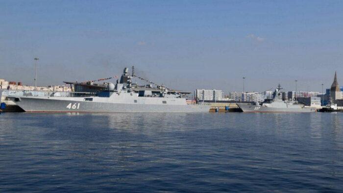 Фрегат «Адмирал флота Касатонов» и корвет «Гремящий» на МВМС 2021