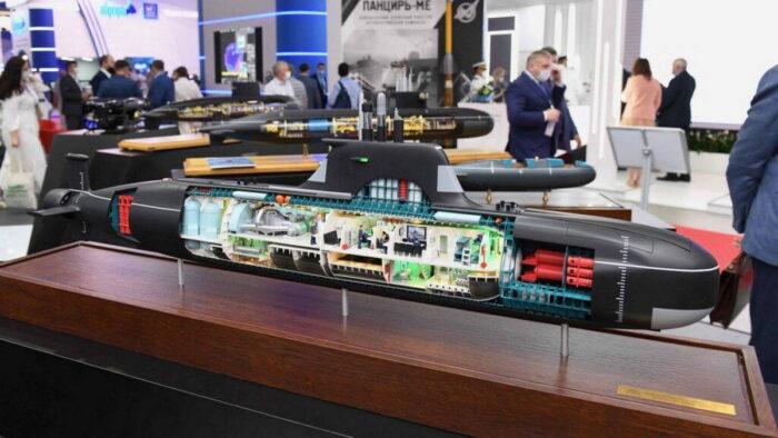 Малая подводная лодка «Сервал». Макет