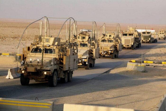 Конвой армии США в Сирии