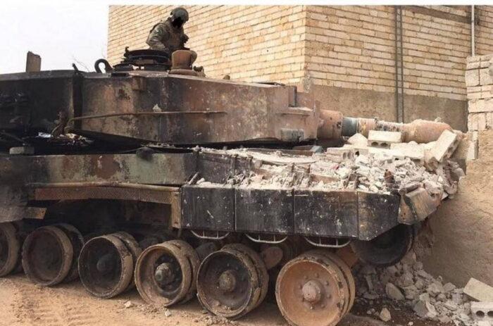 Уничтоженный «Леопард» ВС Турции
