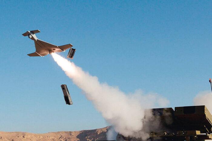 Барражирующий боеприпас (БПЛА) Harop израильского производства