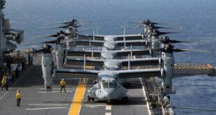 V-22 Osprey на палубе авианосца